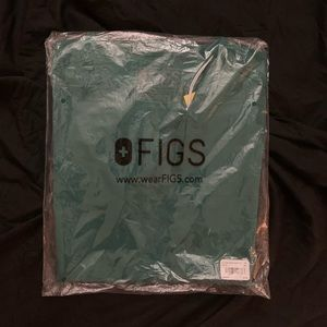 Figs XS Casma Hunter Green NWT
